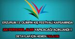 Erzurum kış festivali personel alımı