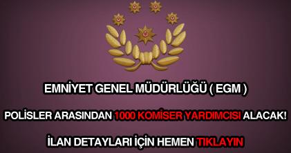 EGM 1000 komiser yardımcısı alımı