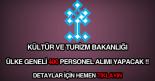 Kültür ve Turizm Bakanlığı 400 personel alımı