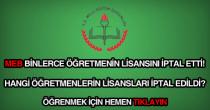 Lisansı iptal edilen öğretmenlerin ve kamu personelinin isimleri