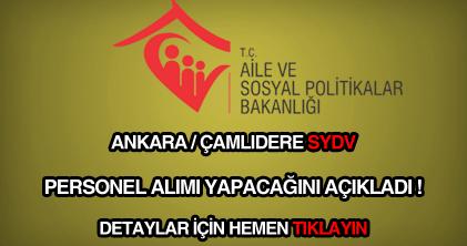 Ankara-Çamlıdere SYDV personel alımı
