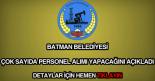 Batman Belediyesi iş ilanları ve iş başvuru formu