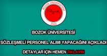 Bozok Üniversitesi sözleşmeli personel alımı