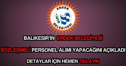 Erdek Belediyesi personel alımı