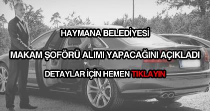Haymana Belediyesi makam şoförü alımı ilanı