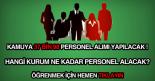 kamu personel alımı ilanı