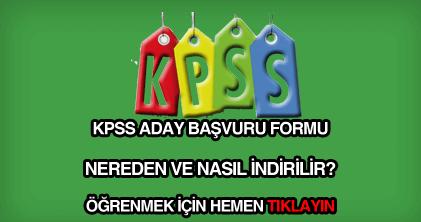 KPSS aday başvuru formu