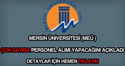 Mersin üniversitesi personel alımı ilanı