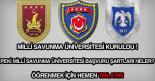 Milli Savunma Üniversitesi başvuru şartları