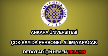 Ankara Üniversitesi personel alımı