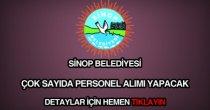 Sinop Belediyesi personel ve memur alımı