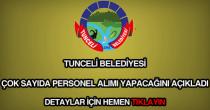 Tunceli Belediyesi iş ilanları ve iş başvuru formu
