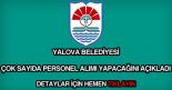 Yalova Belediyesi iş başvuru formu ve güncel iş ilanları