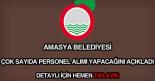 Amasya Belediyesi personel alımı