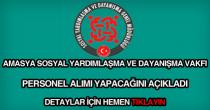 Amasya SYDV personel alımı