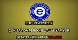 Ege Üniversitesi personel alımı