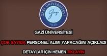 Gazi Üniversitesi personel alımı