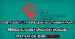 Konya SYDV personel alımı