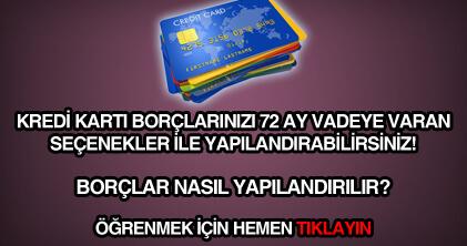Kredi kartı yapılandırma yasası