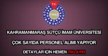 Sütçü İmam Üniversitesi personel alımı