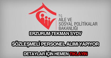 Erzurum tekman sydv personel alımı