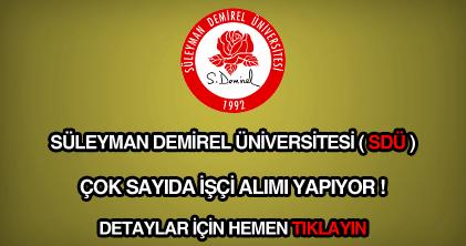 Süleyman Demirel Üniversitesi işçi alımı