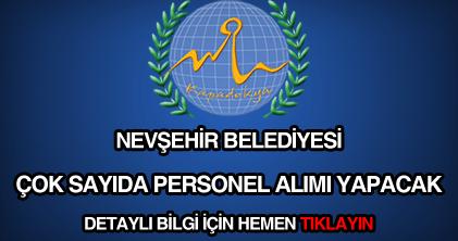Nevşehir Belediyesi personel alımı