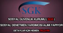 SGK sosyal denetmen yardımcısı alımı