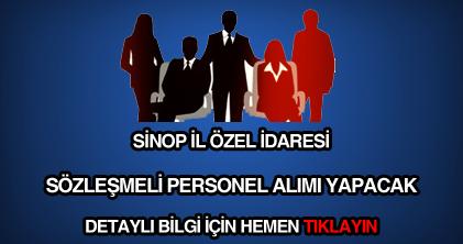 Sinop il özel idaresi personel alımı