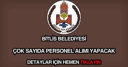 Bitlis Belediyesi personel alımı