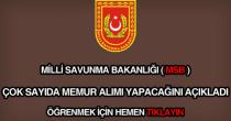 Milli Savunma Bakanlığı memur alımı