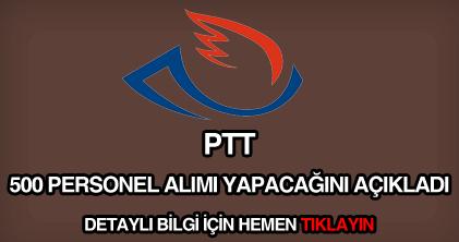 PTT 500 personel alımı