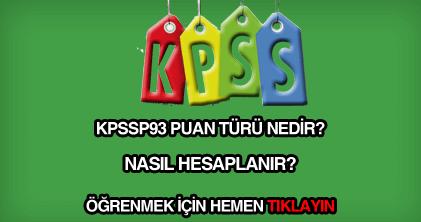 KPSSP93 puan türü nedir?