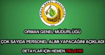 Orman Genel Müdürlüğü personel alımı
