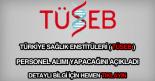 Türkiye Sağlık Enstitüleri personel alımı