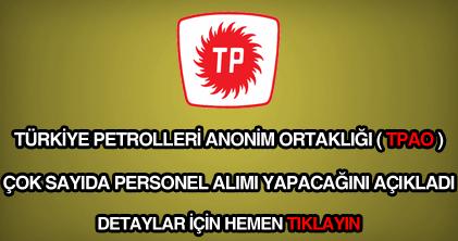 Türkiye petrolleri personel alımı