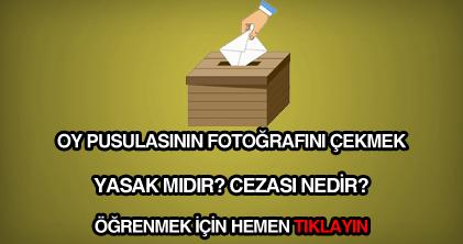 Oy pusulasının fotoğrafını çekmenin cezası
