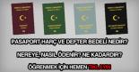 Pasaport harç ve defter ücretleri