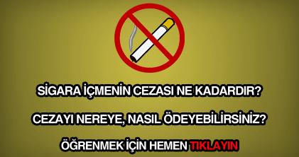 Sigara içmenin cezası ne kadar?