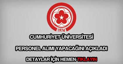 Cumhuriyet Üniversitesi personel alımı