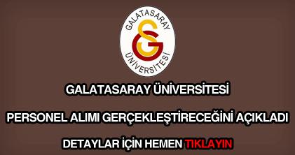 Galatasaray Üniversitesi personel alımı