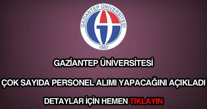 Gaziantep Üniversitesi personel alımı
