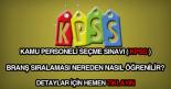 KPSS branş sıralaması nasıl öğrenilir?