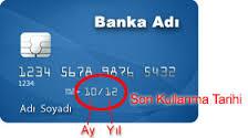 Kredi kartı son kullanma tarihi