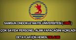 Ondokuz Mayıs Üniversitesi personel alımı