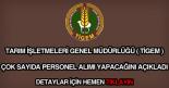 Tarım İşletmeleri Genel Müdürlüğü personel alımı
