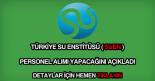 Türkiye Su Enstitüsü personel alımı