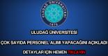 Uludağ Üniversitesi personel alımı
