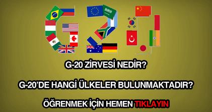 G-20 nedir, ne demektir?