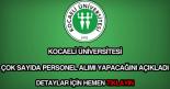 Kocaeli Üniversitesi personel alımı